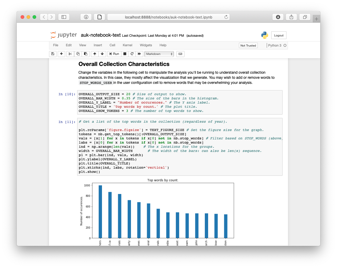 Archives Unleashed Jupyter Notebooks - The Archives